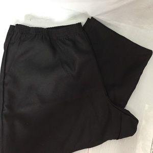 Karen Scott Women's Black Comfort Waist Pants J58